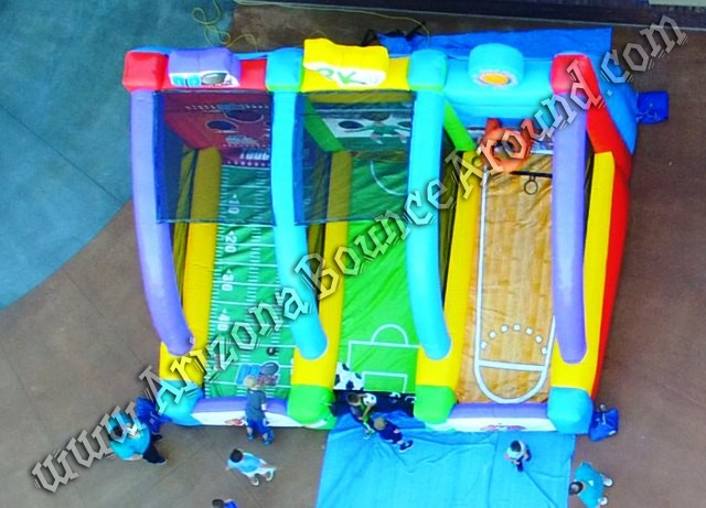 Inflatable 3 Play Sports Game Rental Phoenix Arizona